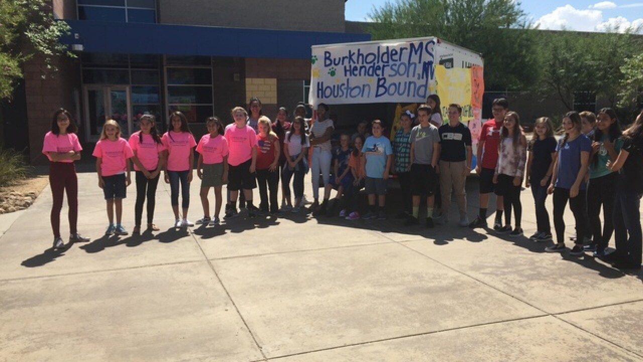 School collects items for Harvey flood victims