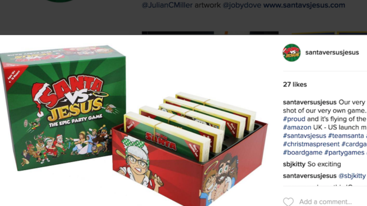 'Santa vs Jesus' board game is popular, controversial Christmas item