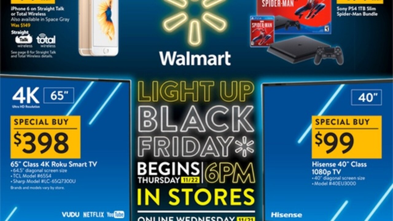 Walmart releases 2018 Black Friday ad, includes savings on 4K TVs, Fitbits, XBoxes and PS4s