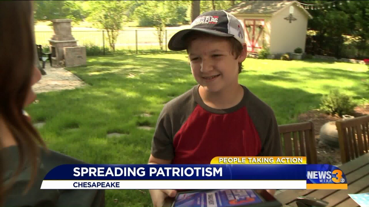 Chesapeake teen shows his colors: Red, white and blue