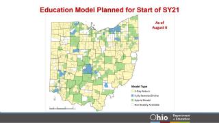 Ohio Education Model Planned Start map
