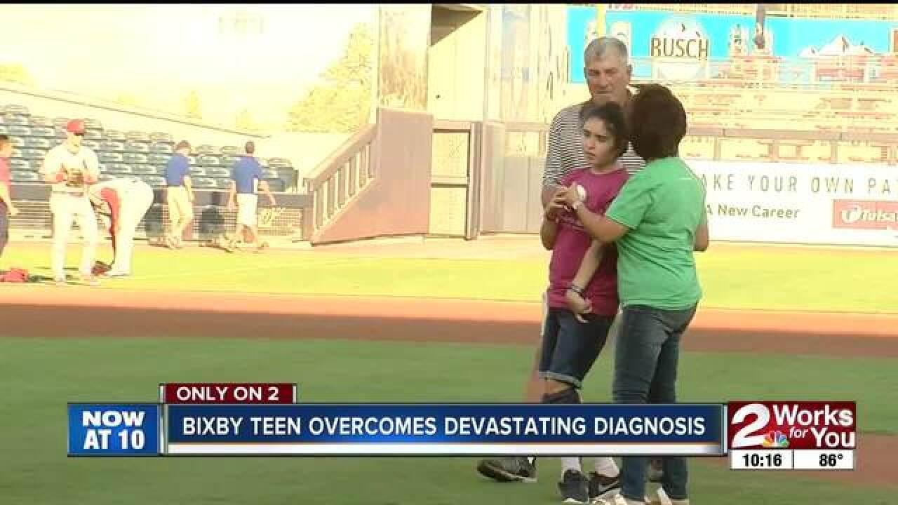 Bixby teen overcomes devastating diagnosis