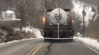 pretreating roads ahead of snow