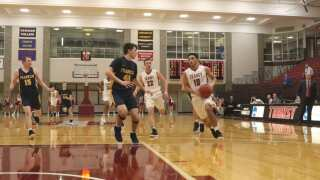 Cold First Half Hinders Pioneers Mmen's Basketball at Franklin