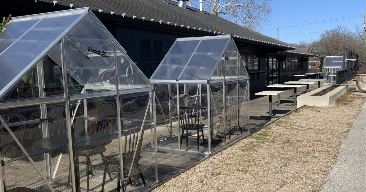 Heated and covered patios for outdoor dining in the Indianapolis-area