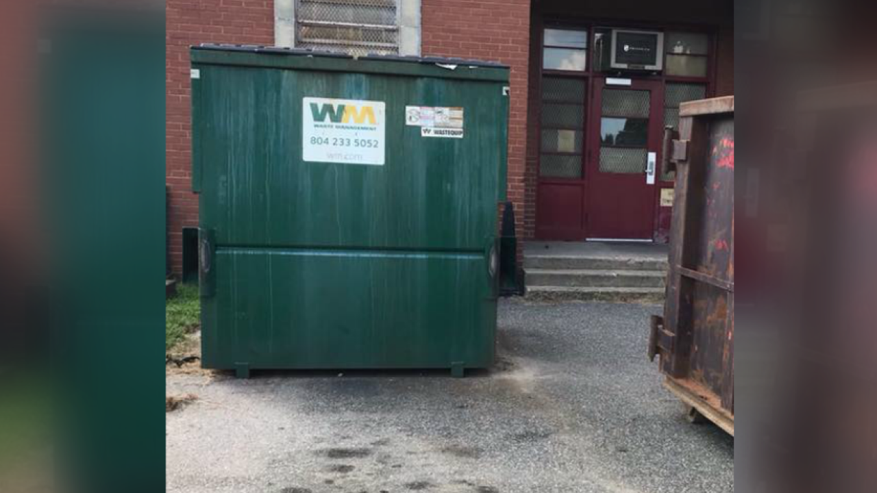 Dog found strangled inside dumpster at Richmond elementary school