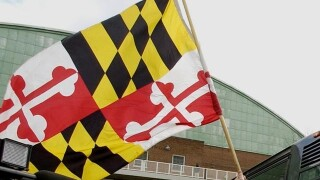 Maryland Flags at half-staff in honor of fallen BPD Detective