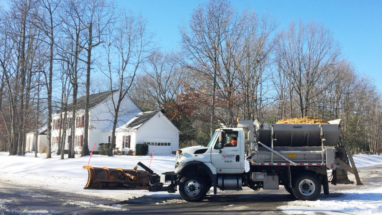 Plow crews working to remove 'persistent' ice pack from secondaryroads