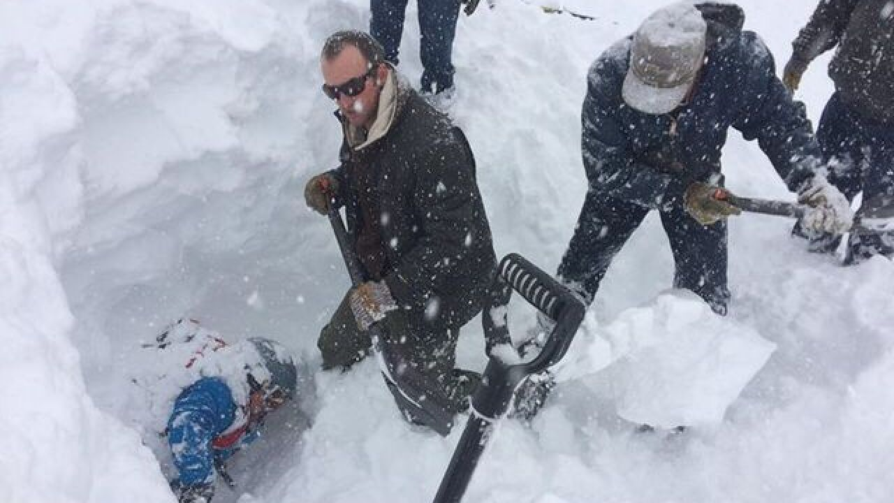 Backcountry skier rescued after becoming trapped under avalanche on US 550 in San Juan County