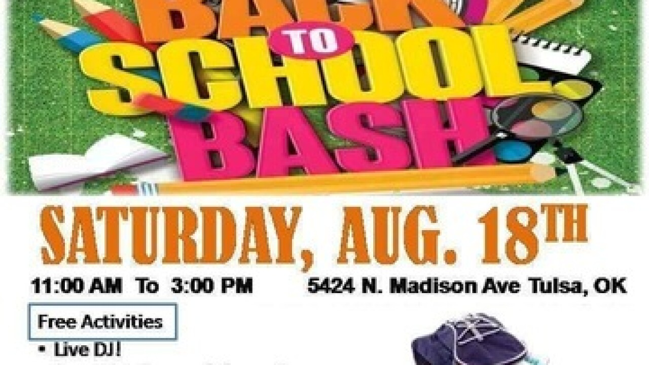 School supplies and backpack giveaway for students