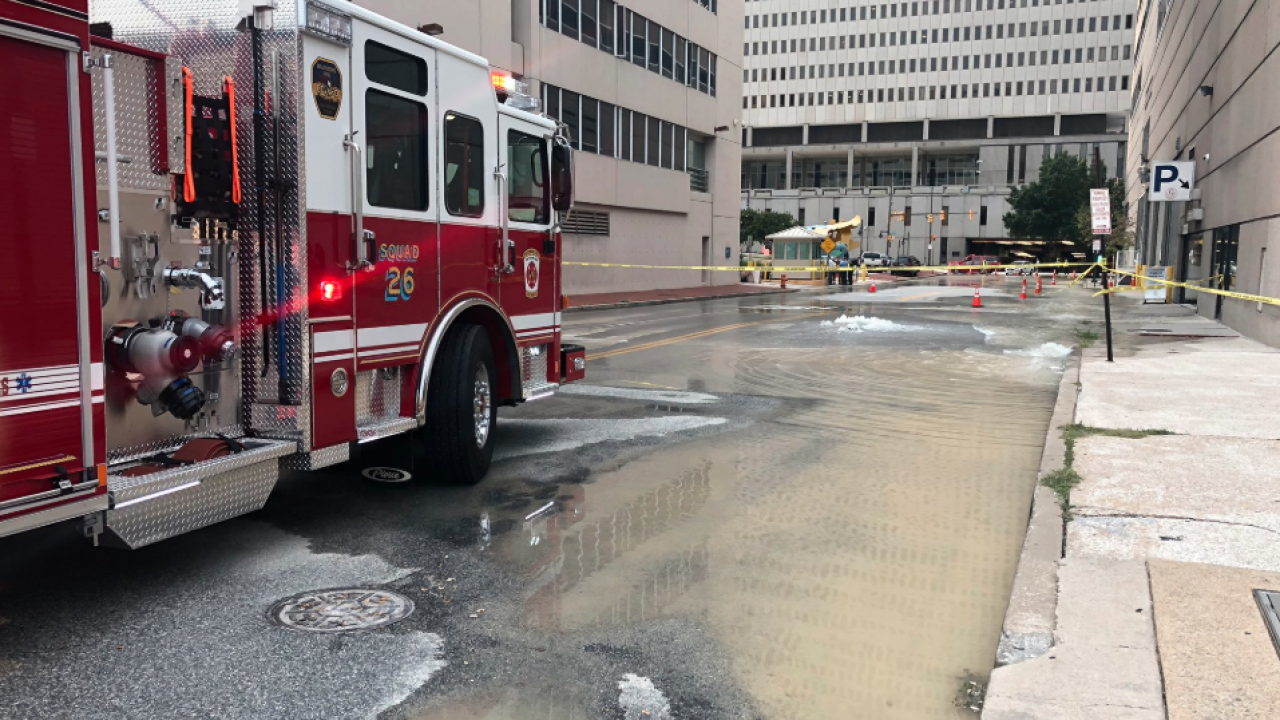 water main break downtown