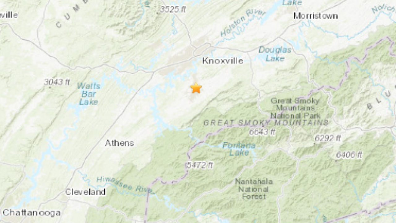 Tennessee hit by 3.0 magnitude earthquake early Monday morning