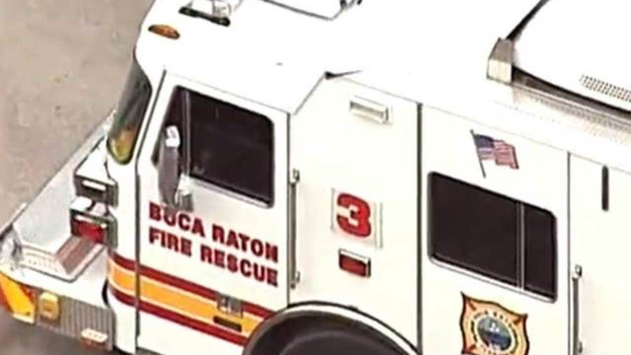 Lightning strikes, injuring Boca firefighters