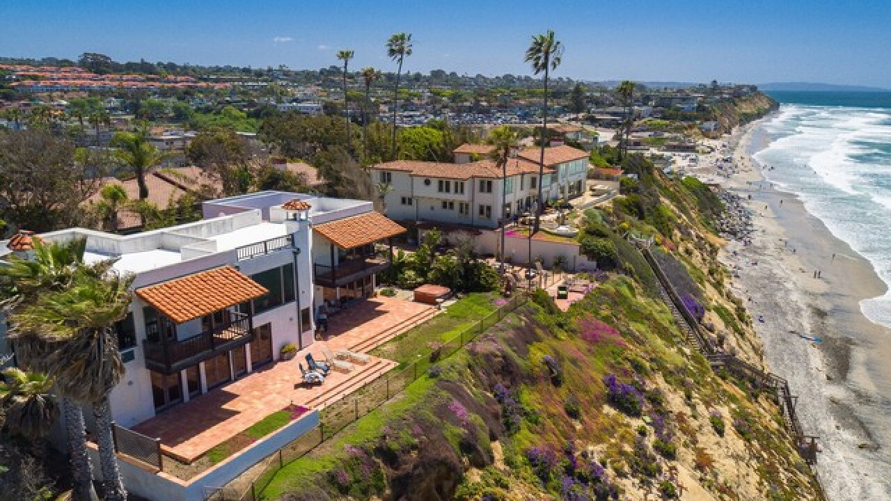 Encinitas bluffs home selling for $11,350,000