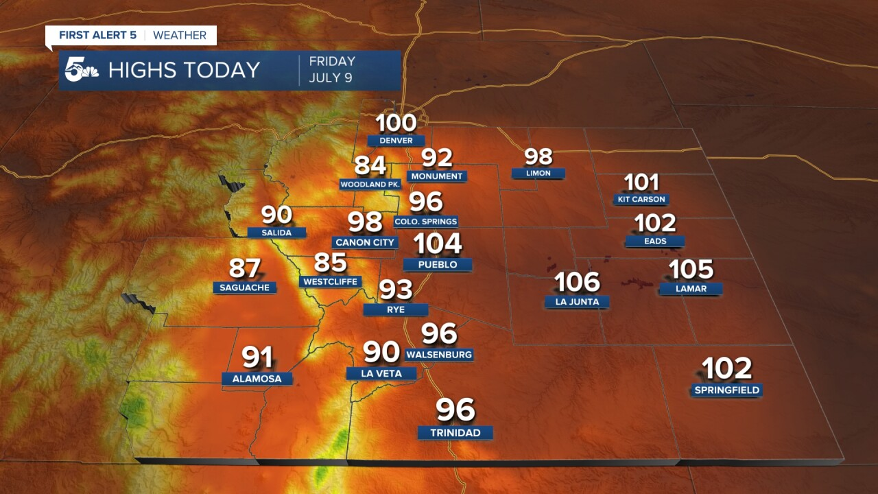 Forecast Highs Today