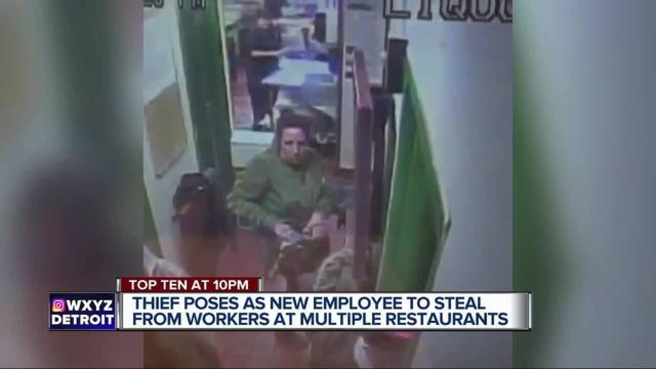 Woman posing as worker steals from restaurants