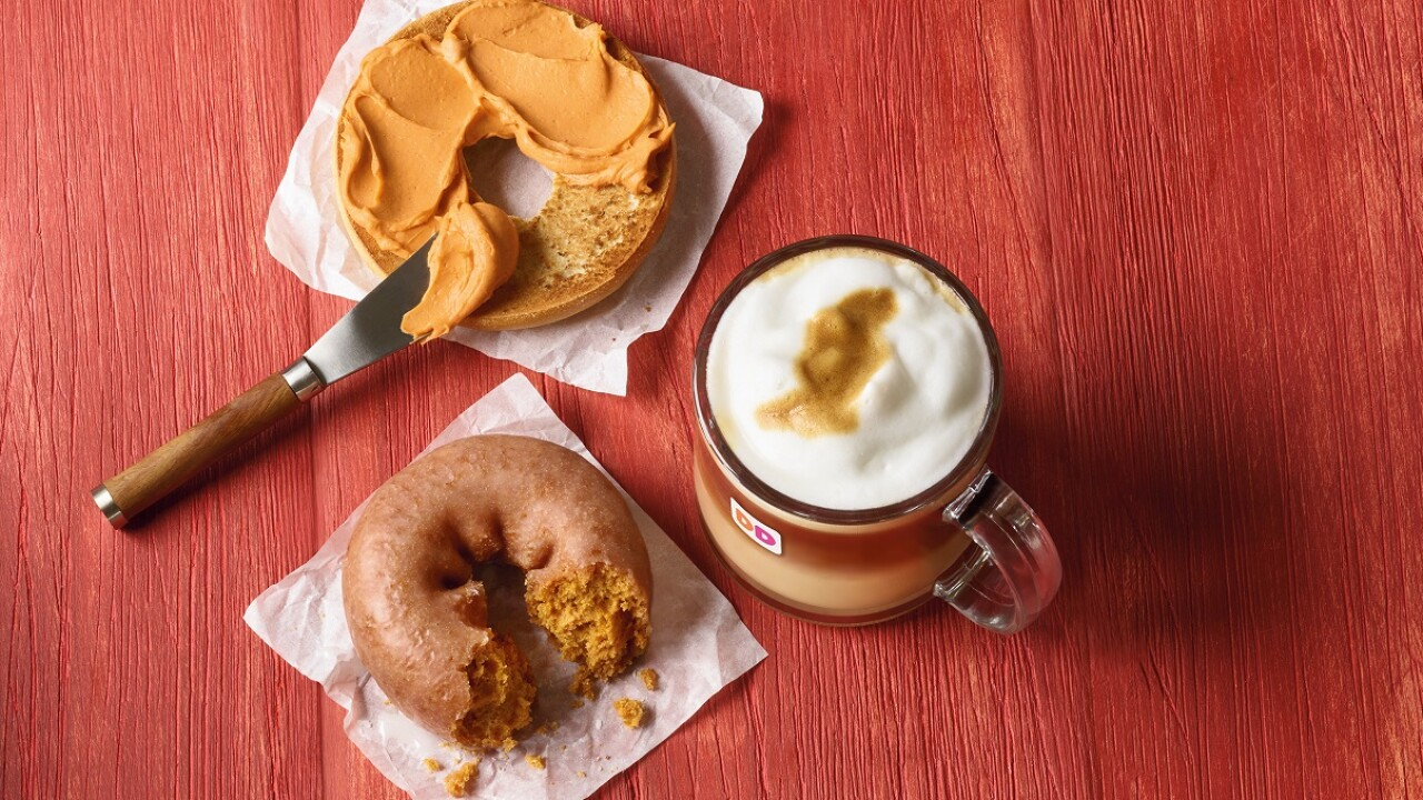 Pumpkin flavored coffee, donuts return to Dunkin' Donuts at the end of August