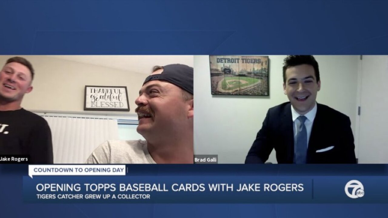Tigers Jake Rogers and Spencer Torkelson talked with Brad Galli cards