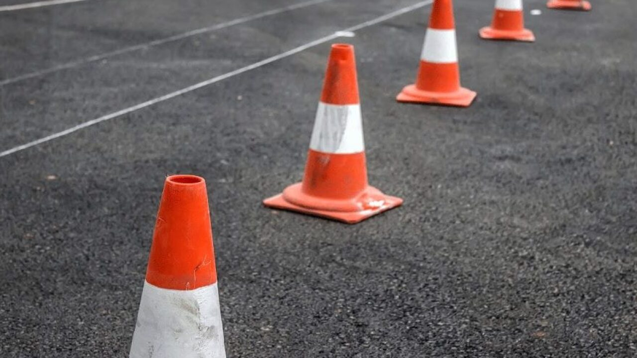 Road work begins on Alamo Creek Road