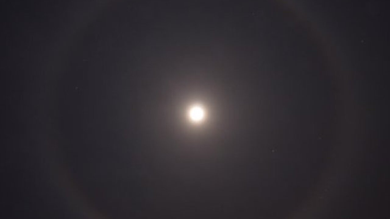 What was that ring around the moon last night?