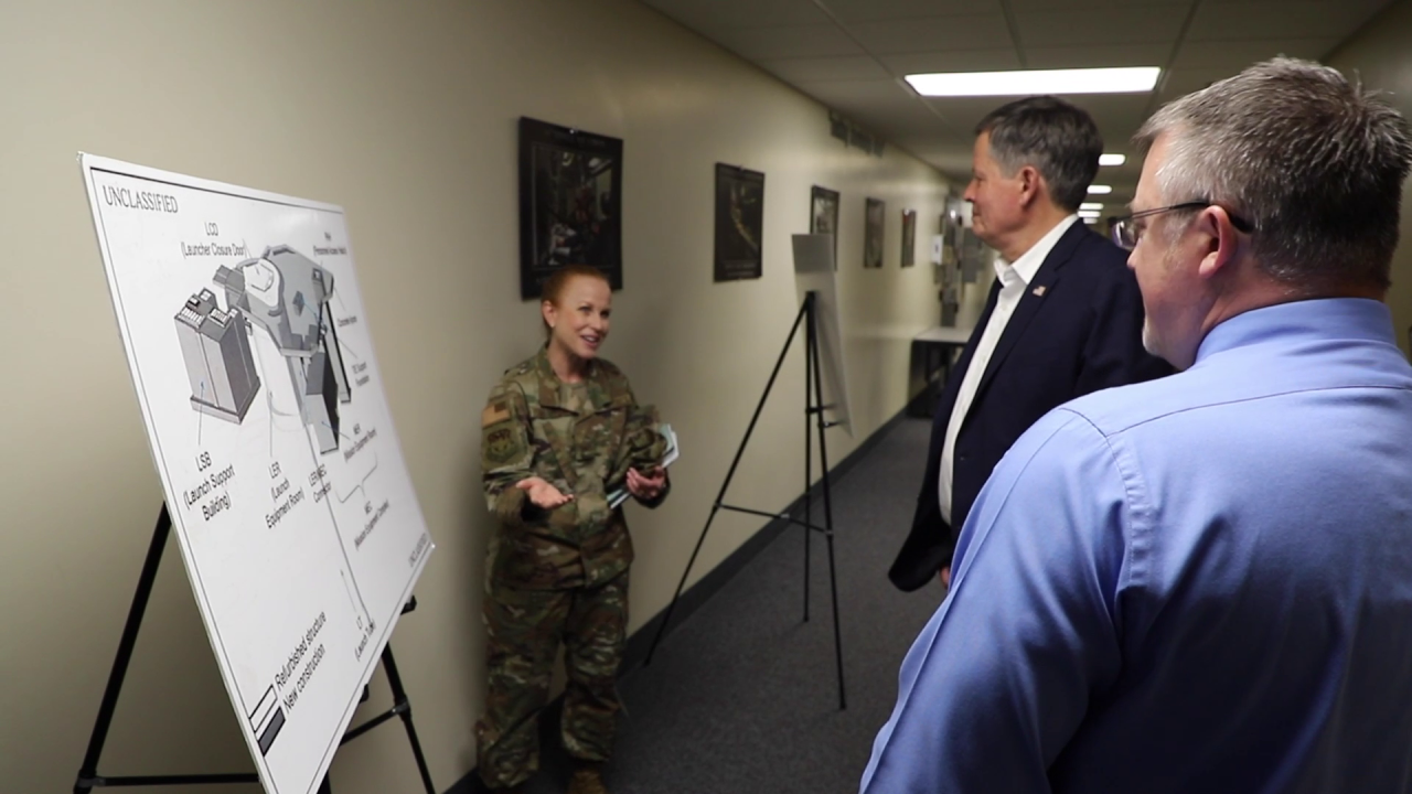 Daines met with Colonel Anita Feugate Opperman, the 341st Missile Wing commander