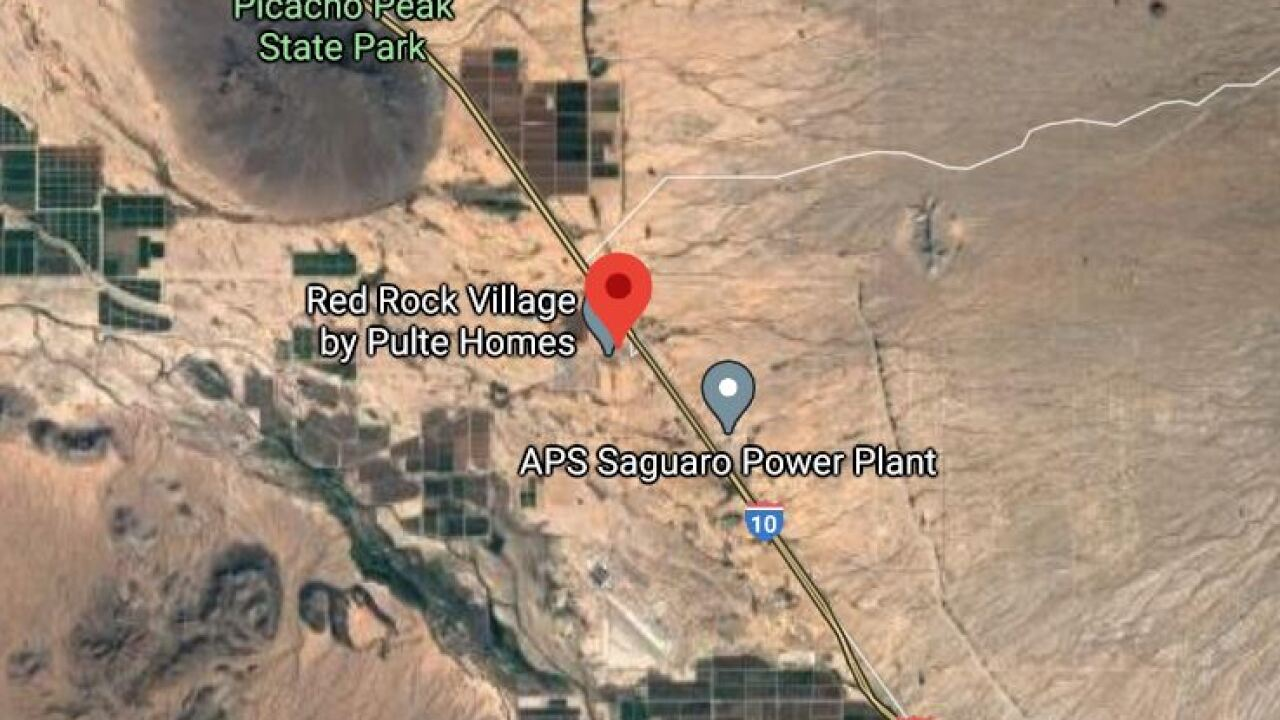 Pinal County Sheriff's Office detectives investigated a shooting near Red Rock Saturday night. Photo via Google Maps.