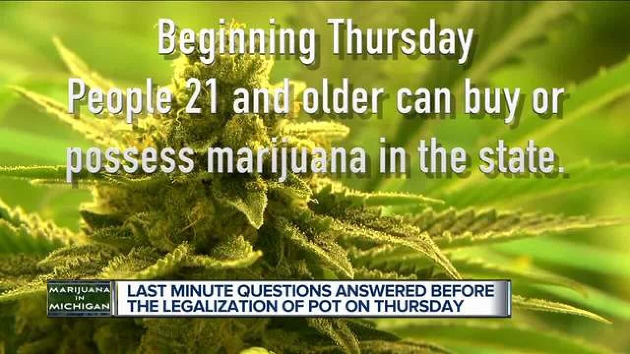 Marijuana legalization just days away in MI