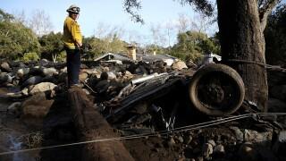 Photos show mudslide damage in Montecito