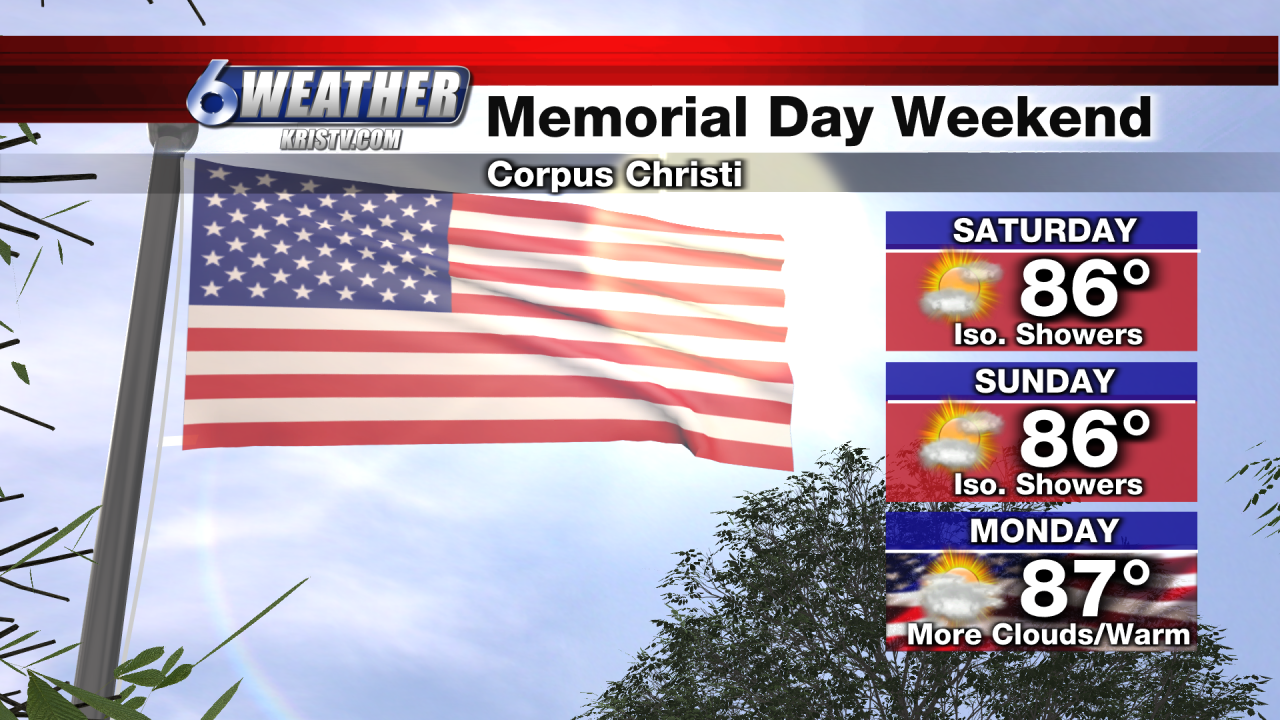 6WEATHER Memorial Day Weekend Forecast