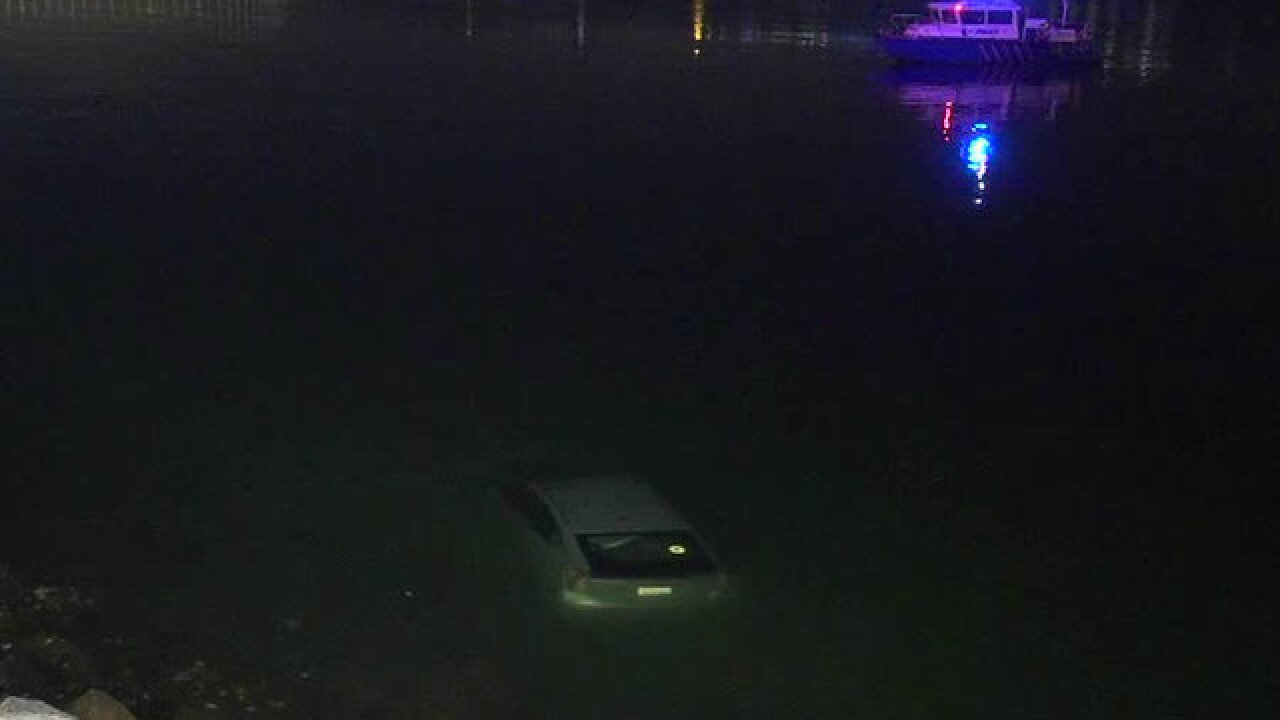 Driver plunges into SD Bay, escapes from car