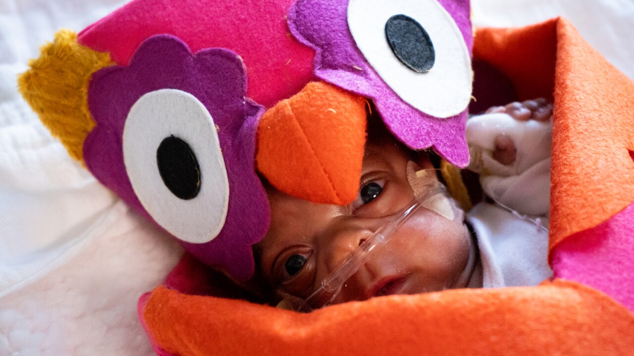 Babies in NICU at DMC Children's Hospital of Michigan experience first Halloween.