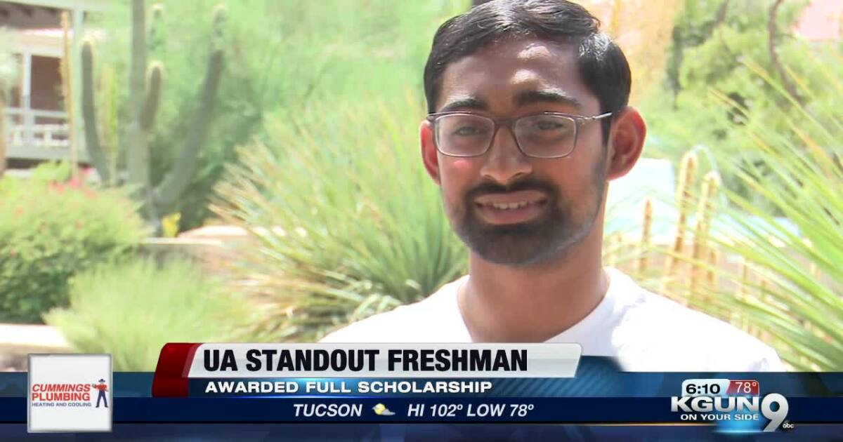 UA Freshman Parneeth Nandamuri received full scholarship