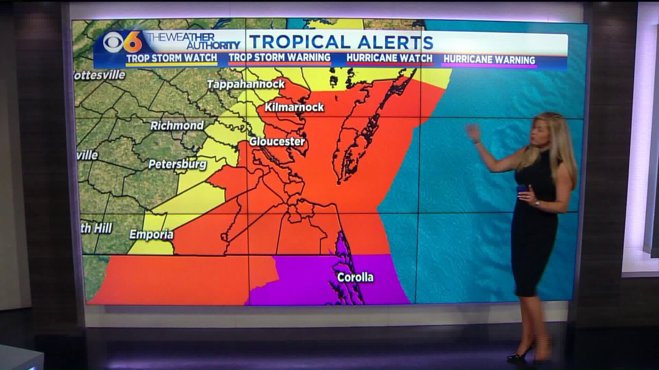 Hurricane Dorian expected to bring slightly more rain to Richmond area
