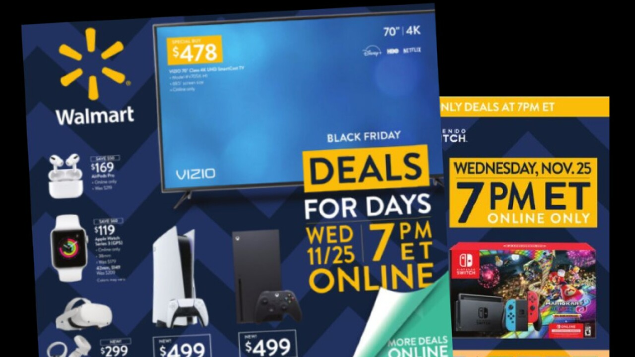 Here are the best Black Friday deals from Walmart in their final ad before Thanksgiving