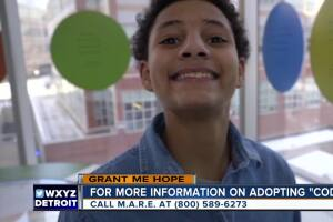 Grant Me Hope: Cody would like to play in the woods and go to bounce houses with his future family