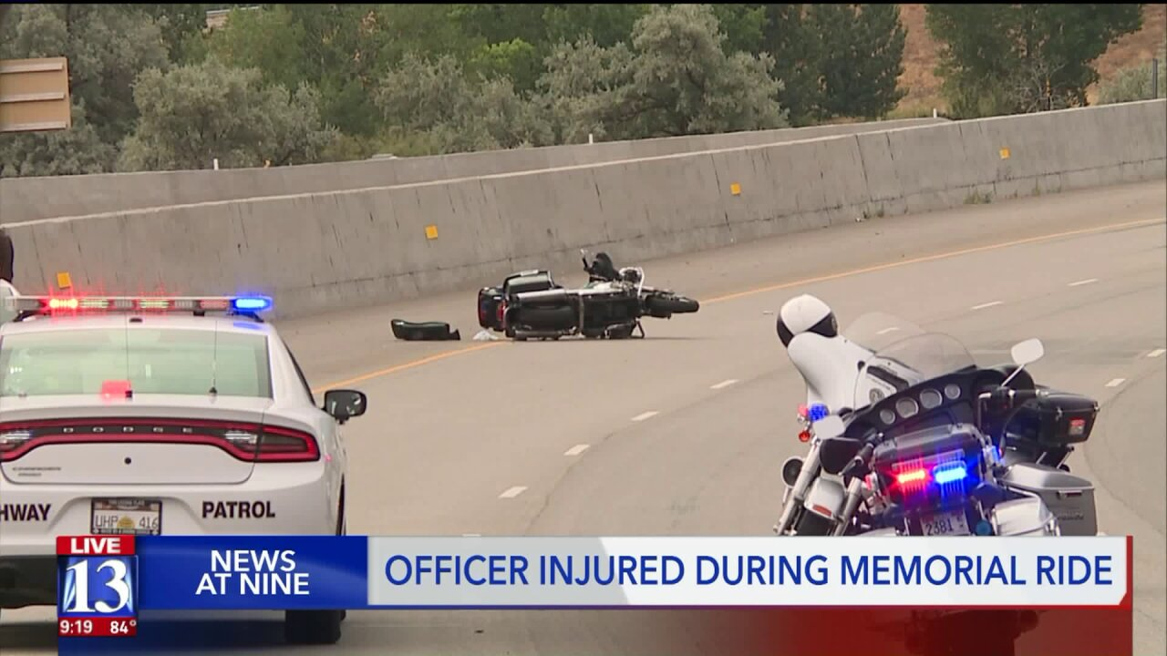 Deputy injured in charity motorcycle event honoring police officers
