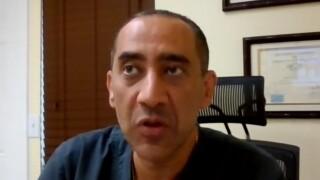 Dr. Shady Salib, an internal medicine specialist in Palm Beach Gardens, speaks to WPTV on May 14, 2021.jpg