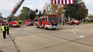 Community pays final respects to Columbia Station firefighter who tried to save crash victims