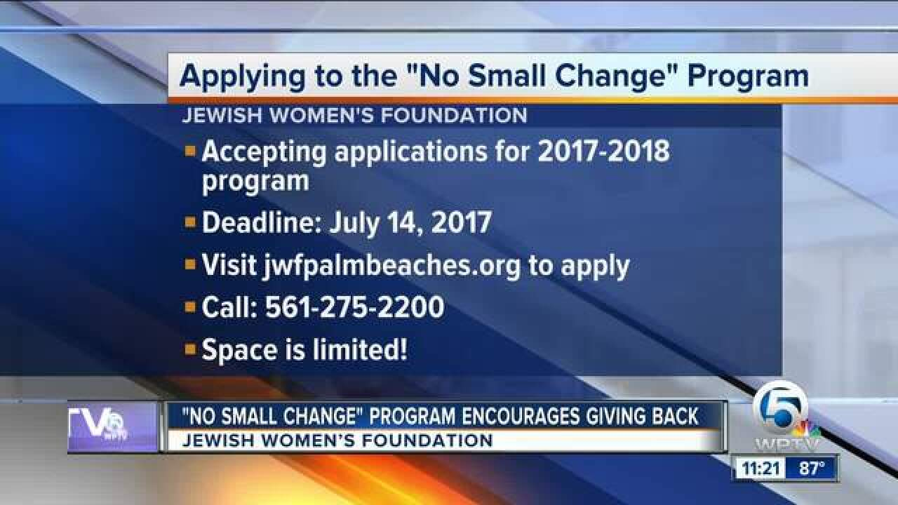 'No Small Change' program encourages giving back