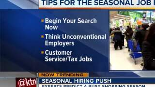 Seasonal hiring push