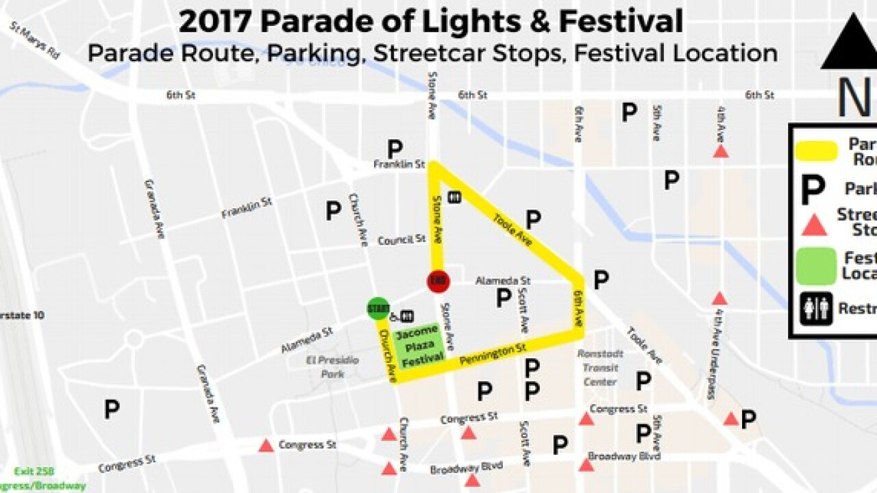 Parade of lights and Festival Tonight
