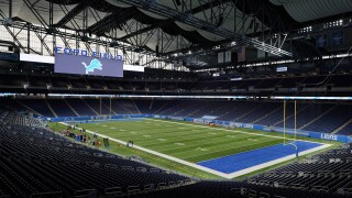Empty Ford Field Lions Football