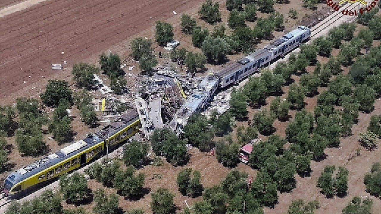 2 trains collide in Italy, dozens killed
