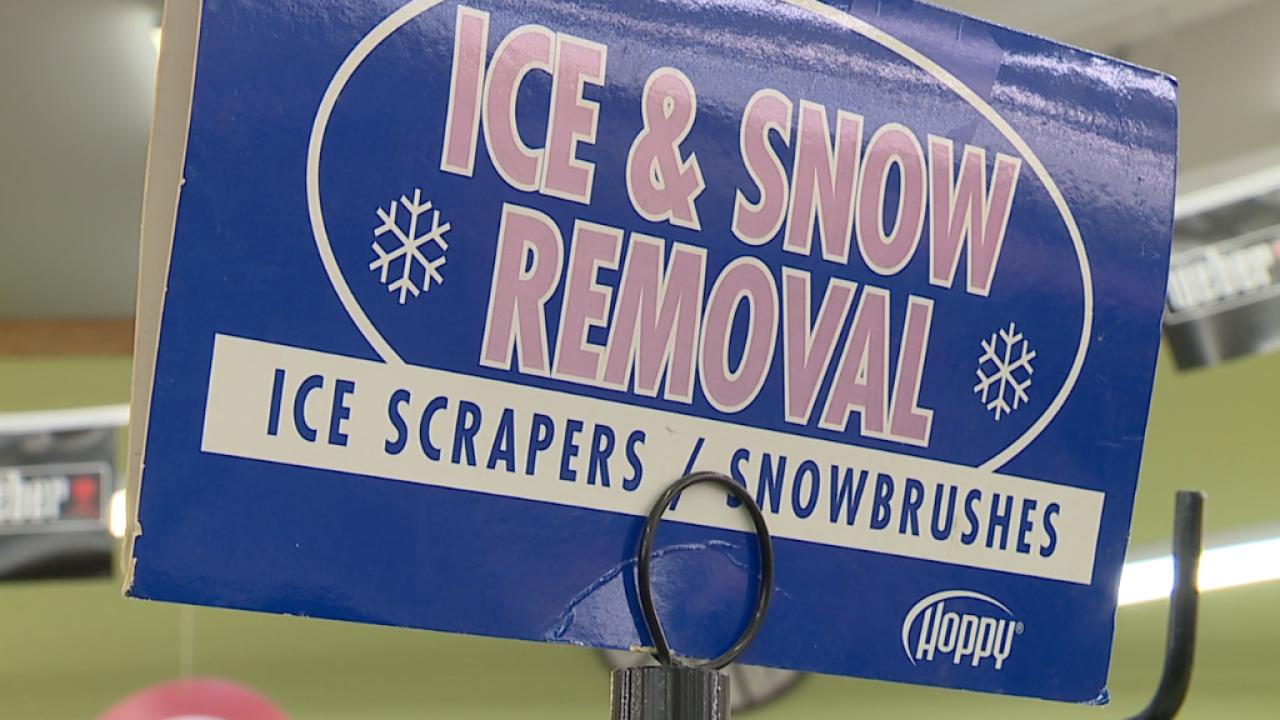Hardware stores snow