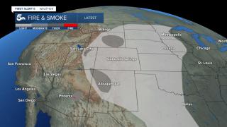 wildfire smoke map
