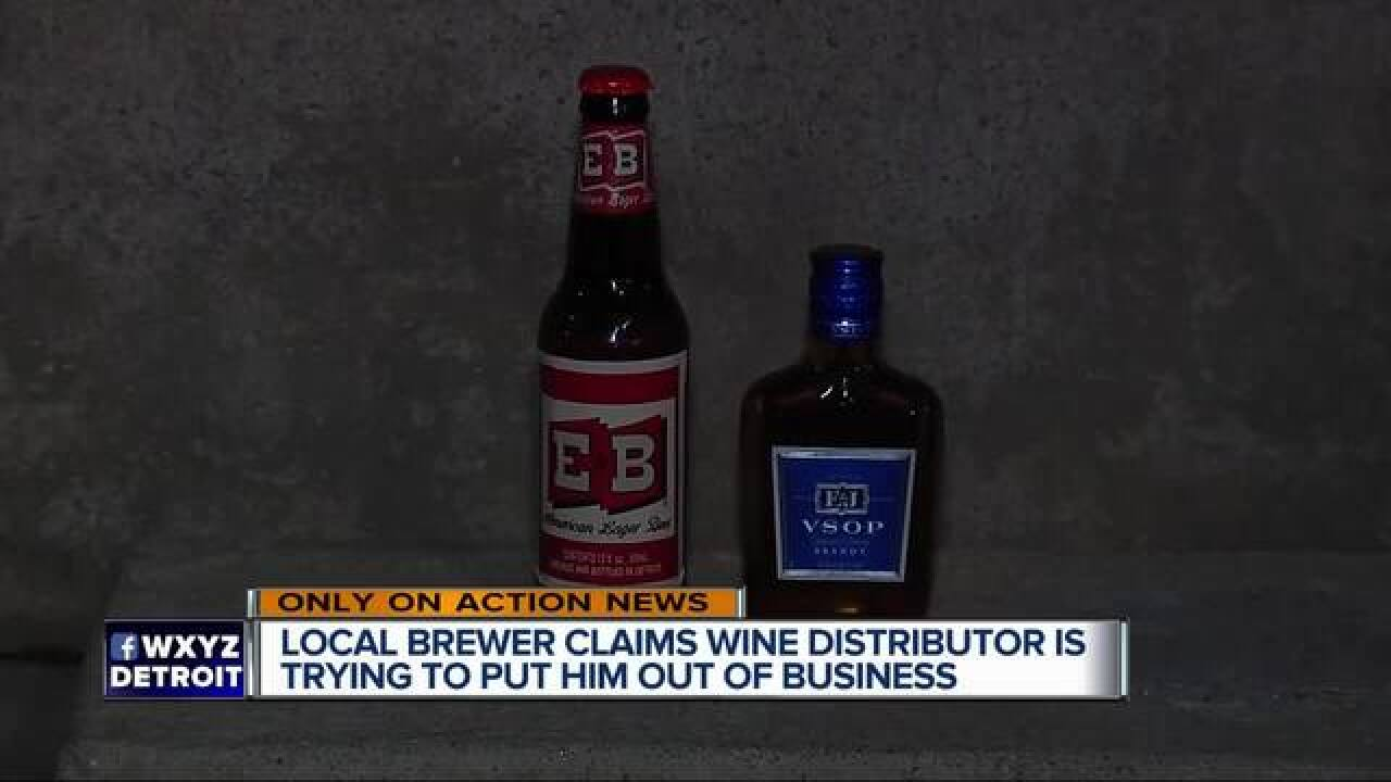 Local microbrewery battling liquor company