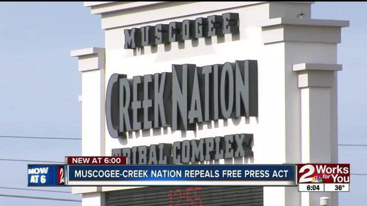 Tribe says Creek Nation petition for free press falls short