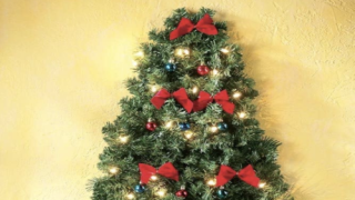 Wall-mounted Christmas Trees Are Perfect Space-savers In Smaller Homes