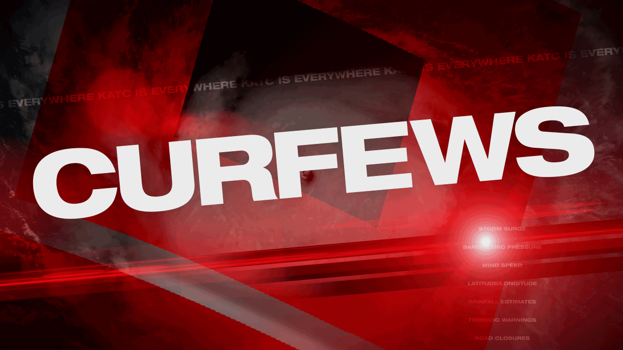 CURFEWS for Sunday, July 14