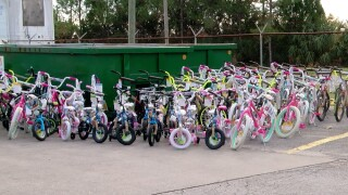 Waste Management donates 100 bikes